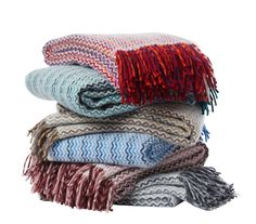Klippan Mosaik throws, available in 6 colours at Northlight