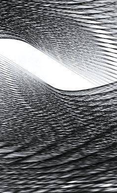 Robert Currie   67,200cm of Black Nylon Monofilament (detail), 2011 Textile Fiber Art, Light Beam, Fibres, Light And Shadow, Textures Patterns, Beams, Flow, Artworks, Sculptures
