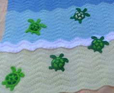 sea turtle crochet ocean baby blanket | Crotchet | Pinterest