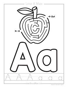 Free ABC Mazes including beginning letter maze, Alphabet Playdough Mat, as well as Uppercase and Lowercase handwriting Practice. Maze Worksheet, Spelling Worksheets, Free Preschool, Preschool Printables, Kids Writing, Writing Skills, Letter Maze, Printable Mazes, Mazes For Kids