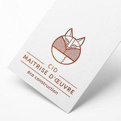 Logo renard gométrique - Entreprise éco-construction | EHOP Design