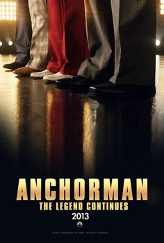 Anchorman: The Legend Continues Poster - The sequel gets an official title as the four main cast members line-up for their re-introduction into our current world of fast paced news.