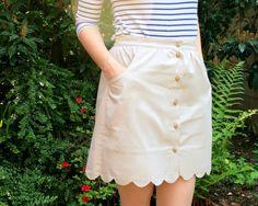 Scallop Button Up Skirt Burda Style