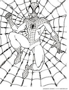 SpiderMan coloring pages 1 / SpiderMan / Kids printables coloring