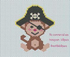 Hello IG, je vous partage le diagramme de mon petit pirate et je réalise que j'ai oublié sa queue (j'ai une excuse, ça faisait deux jours que j'étais malade. Bonne journée  #miyuki #perleusecompulsive #perleuseaddict #perlesmiyuki #miyukibeads #miyukiaddict #motifdelollipuce #singe #pirate #kawaii #diagramme #diagrammeperles