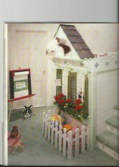 Great idea for the window,  Flower Box, Fence, and Shutters too.  might work with your idea Elaina@  .