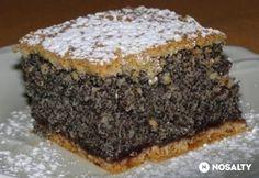 Ahogy a neve is elárulja, ez a mákos süti tényleg egy csoda! Hungarian Desserts, Hungarian Cake, Hungarian Recipes, Czech Recipes, Croatian Recipes, Sweet And Salty, Homemade Cakes, Creative Food, Coffee Cake