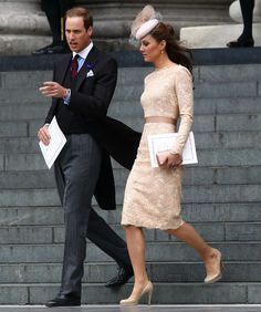 Kate wowed us in a blush pink Alexander McQueen dress at the Jubilee service--I don't see a baby bump!