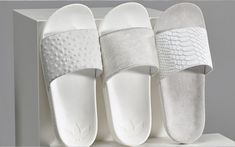 The Adidas Mi Adilette Sandal Pack Features Custom, Normcore Footwear #shoes trendhunter.com