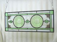 Stained Glass Panel Vintage Window Treatment by HeritageDishes, $99.95  I absolutely love these!