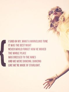 It was the best night, never would forget how we moved... (Taylor Swift's RED album)