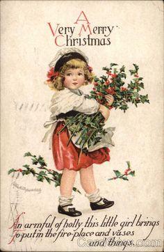 A Very Merry Christmas ! vintage - Ellen Clapsaddle Children