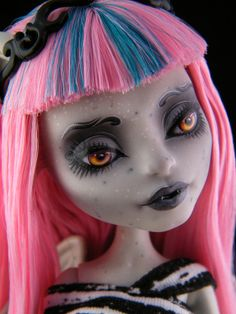 "Monster High repaint doll ""Wrought Iron"" Rochelle"