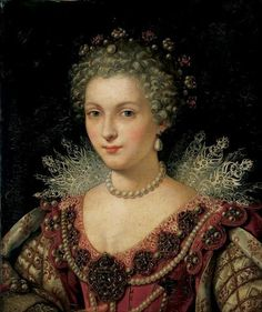 Portrait of Gabrielle d'Estrees, by Lavinia Fontana, c. 1593-99  She was a mistress of King Henry IV of France