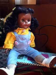 Vintage black doll