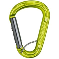 Edelrid HMS Strike Slider FG Carabiner * Automatic gate locking system * Spring bar holds carabiner in place when belaying to prevent cross loading | at www.weighmyrack.com/ #rock #climbing #gear