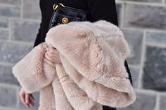 little styled life | All Black + Fur