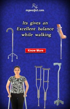 Walking aids can maintain balance and minimise the risk of falling
