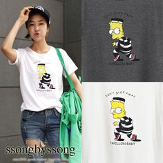 Picasso Boy Bart Simpson Graphic Tee