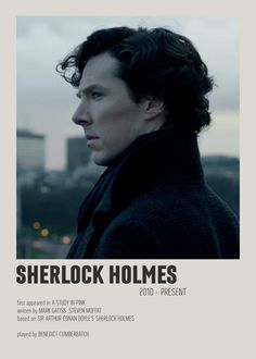 Iconic Movie Posters, Minimal Movie Posters, Iconic Movies, Film Posters, Sherlock Holmes, Sherlock Poster, Film Poster Design, Movie Prints, Aesthetic Movies