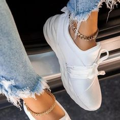 Julia - Diamond Sneaker Moda Sneakers, Sneakers Mode, Slip On Sneakers, White Sneakers, Sneakers Fashion, Vegan Sneakers, Shoes Sneakers, Summer Sneakers, Platform Sneakers