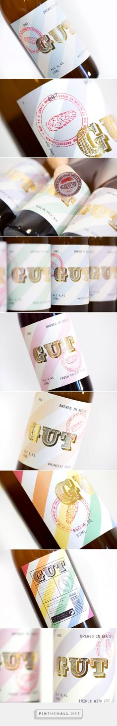 GUT - Beer collection from Berlin on Packaging of the World - Creative Package Design Gallery Creative Advertising, Advertising Design, Label Design, Branding Design, Package Design, Graphic Design, Beauty Products Labels, Tea Labels, Wine Labels