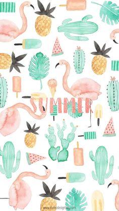 Wallpaper / padrão / summer