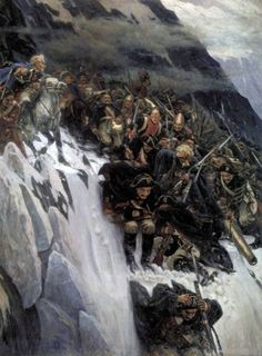 Василий Суриков (1848-1916) - Переход Суворова через Альпы в 1799 году. 1899