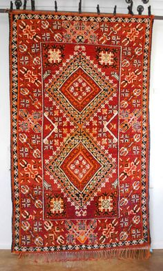 Absolutely FABULOUS vintage Moroccan carpet from Red Thread Souk.  This is part of my personal collection that I have been hording!  So beautiful.