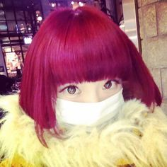 Kyary Pamyu Pamyu red hair valentine mask fur