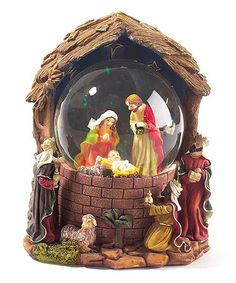 Look what I found on #zulily! Nativity 7'' Wind-Up Musical Water Globe #zulilyfinds