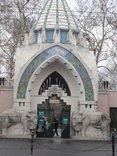 Art nouveau entrance to Budapest zoo