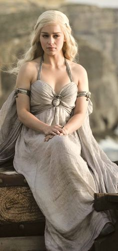 "Emilia Clarke as Daenerys Targaryen, ""Khaleesi"" Mother of Dragons"
