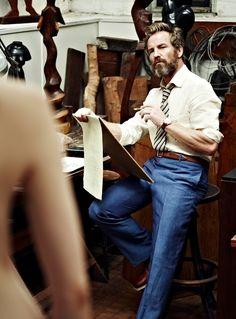 Rainer Andreeson, Victor Gerber's partner for 13 years, and a Handsome Bearded Man. #handsomesauce #beards #gentlemen
