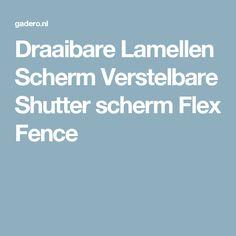 Draaibare Lamellen Scherm Verstelbare Shutter scherm Flex Fence