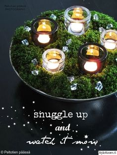 joulu,joulukoti,joulusisustus,jouluasetelma,kynttilät,valkoinen,talvi,olohuone,asetelma,Tee itse - DIY,ideat koristeluun