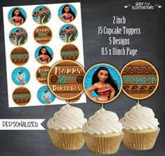 Moana Cupcake Topper