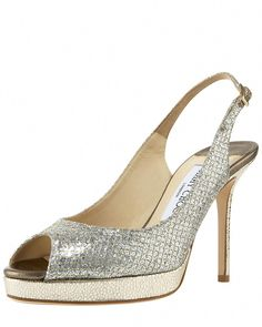 28f1b561e10f Jimmy Choo Nova Glittered Platform Slingback  JimmyChoo Designer Wedding  Shoes