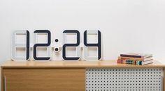 The Twelve24 ClockONE Clock Has a Unique E-Ink Time Display #eink trendhunter.com
