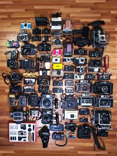 Collection of Cameras by Michael Jones // Mijonju on flickr.com