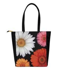 Take a look at the Pink & Orange Daisy Commuter Tote on #zulily today!