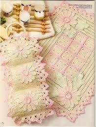 tapetes de crochê para banheiro - Pesquisa Google