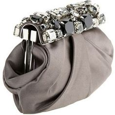 - PRADA Satin & Stone Embellished Clutch.<3