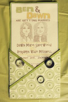 Invitations i bought the invitation sets at michael s craft s and