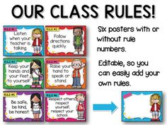 Star Themed Classroom Rules