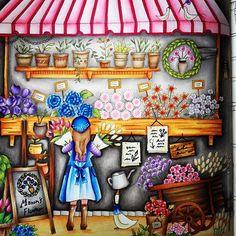 #romanticcountry #eriy #prismacolorpencils #juliespassionforcoloring #adultcoloring #coloringforadults