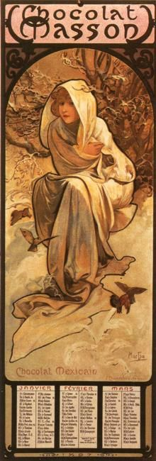 The Four Seasons, Winter by Alphonse Mucha