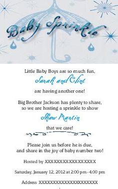 Sarah's Baby Sprinkle Shower Invitation