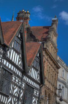 Historic architecture in Shrewsbury Square