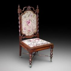 ~ Gothic Revival Solid Rosewood Nursing Chair c. 1840-1860 United Kingdom ~ onlinegalleries.com